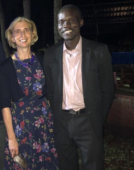 Patricia Mckellar, Associate Dean UG Laws and Daniel Adyera.