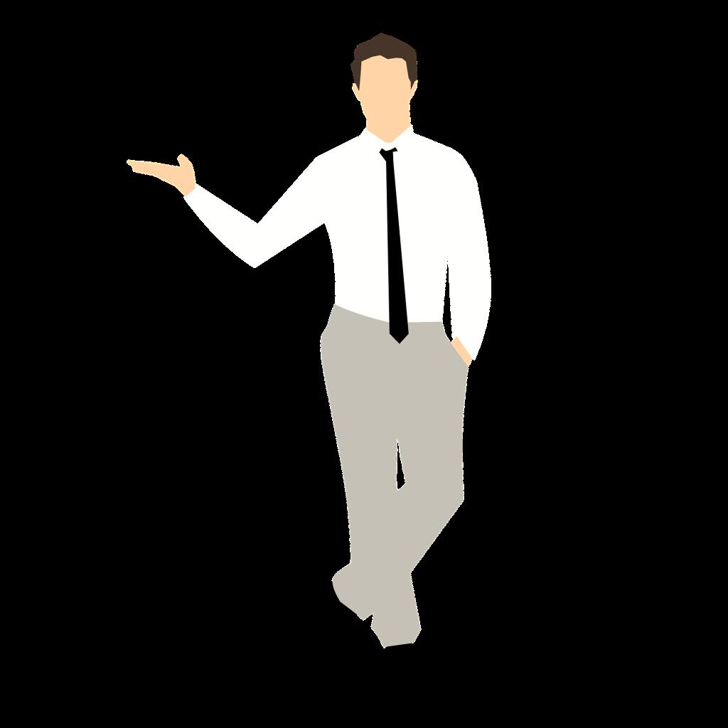 Cartoon man standing