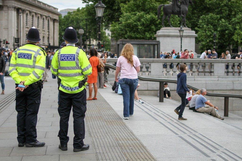 Police in London city